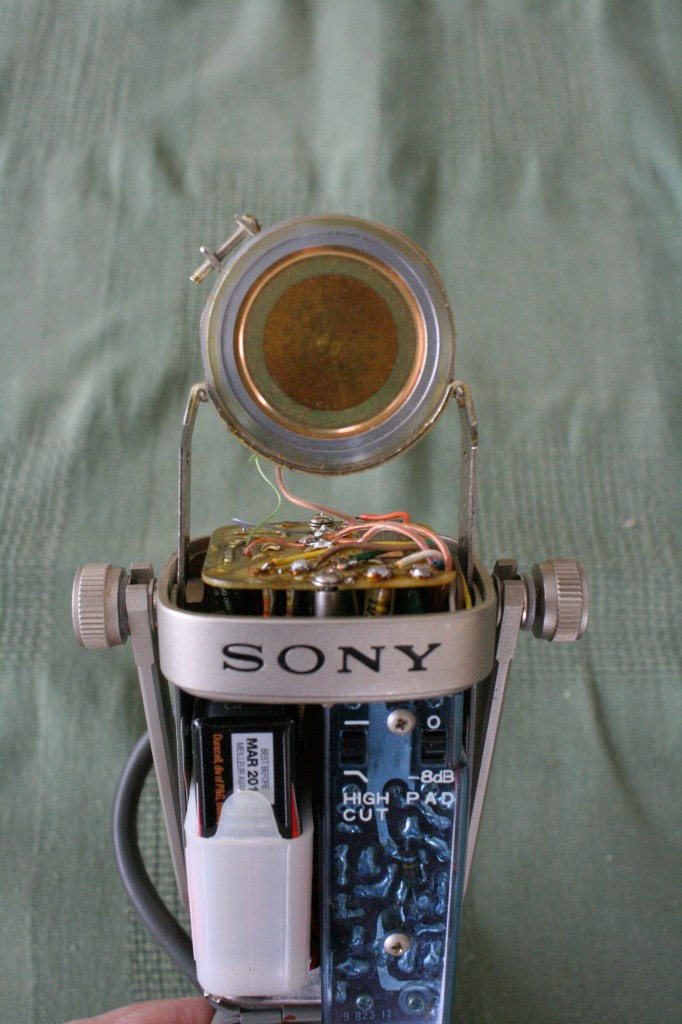 Sony C-38B inside the headbasket.